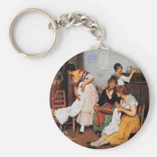 Eugene de Blaas- The New Suitor Key Chains