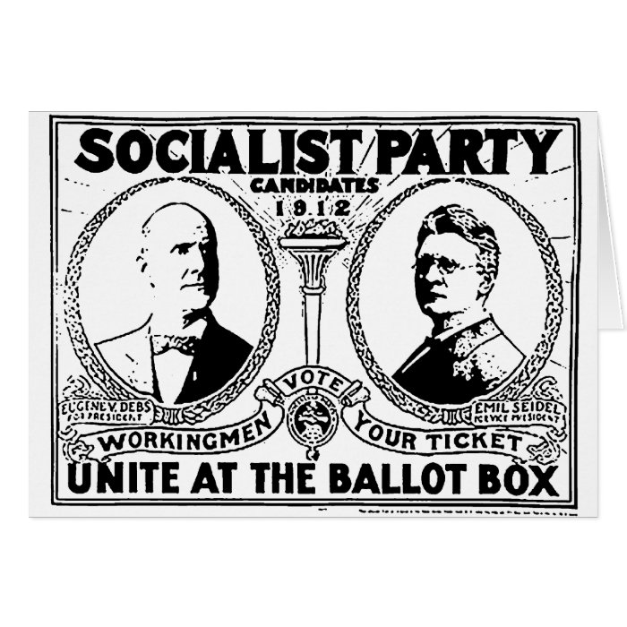 Eugene Debs Campaign Poster Greeting Card