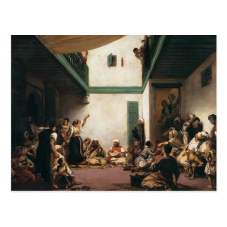 Eugene Delacroix- A Jewish wedding in Morocco Postcard