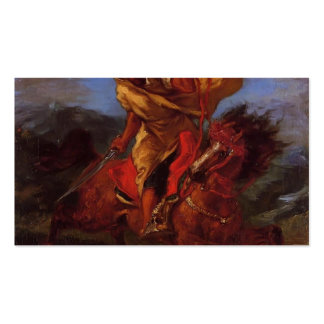 Eugene Delacroix- An Arab Horseman at the Gallop Business Card Template