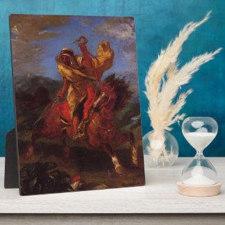 Eugene Delacroix- An Arab Horseman at the Gallop Display Plaque
