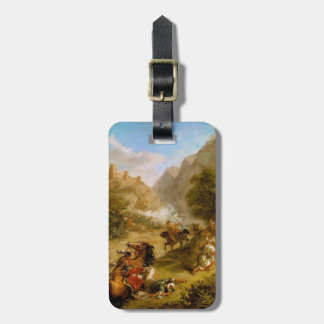 Eugene Delacroix- Arabs Skirmishing in Mountains Tag For Luggage
