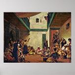Eugene Delacroix - boda judío en Marruecos Poster