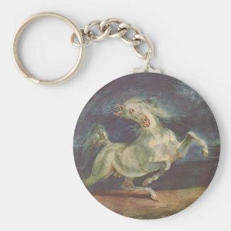 Eugene Delacroix Caballo asustado por una torment Llavero