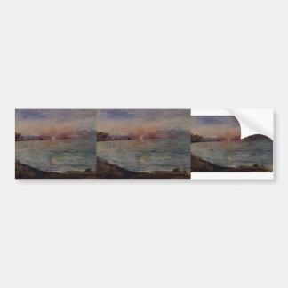 Eugene Delacroix- Cliffs near Dieppe Bumper Sticker