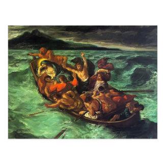Eugene Delacroix- Cristo en el lago de Gennezaret Postales