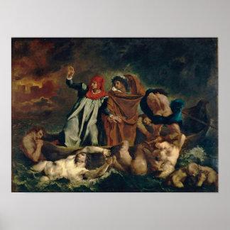 Eugene Delacroix - Dante and Virgil in Hell Poster