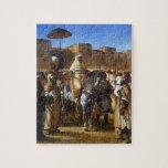 Eugene Delacroix- el sultán de irse de Marruecos Puzzle Con Fotos