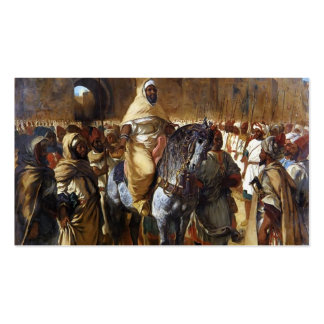 Eugene Delacroix- el sultán de irse de Marruecos Tarjetas De Negocios
