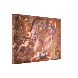 Eugene Delacroix - Expulsion from Temple Detail Gallery Wrap Canvas