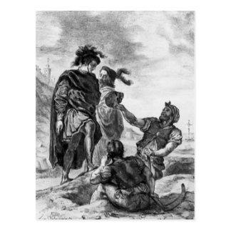 Eugene Delacroix: Hamlet and Horatio Postcard