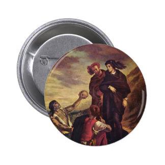 Eugene Delacroix- Hamlet & Horatio in the cemetery Pinback Button