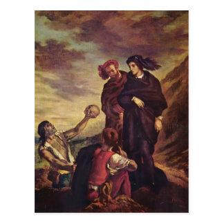 Eugene Delacroix- Hamlet & Horatio in the cemetery Postcard