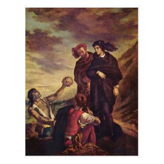 Eugene Delacroix- Hamlet y Horatio en el cementeri Tarjeta Postal