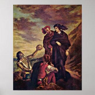 Eugene Delacroix - Hamlet y Horatio Póster