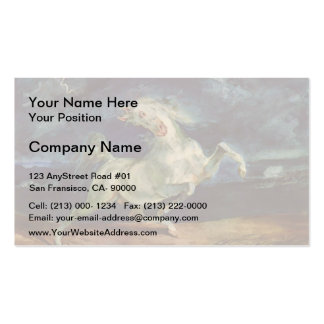 Eugene Delacroix: Horse Frightened by a Storm Double-Sided Standard Business Cards (Pack Of 100)