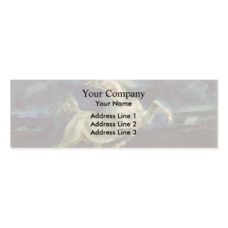 Eugene Delacroix: Horse Frightened by a Storm Double-Sided Mini Business Cards (Pack Of 20)