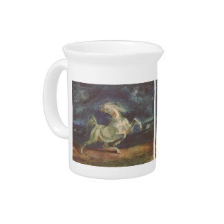 Eugene Delacroix: Horse Frightened by a Storm Drink Pitchers