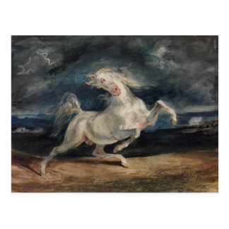 Eugene Delacroix - Horse Frightened by Lightning Postcard