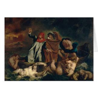 Eugene Delacroix- la barca de Dante Tarjeta De Felicitación