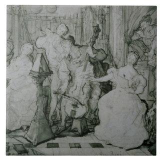 Eugene Delacroix - Le Roy Rene Azulejo Cuadrado Grande