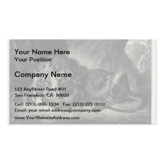 Eugene Delacroix: Lion of the Atlas Double-Sided Standard Business Cards (Pack Of 100)