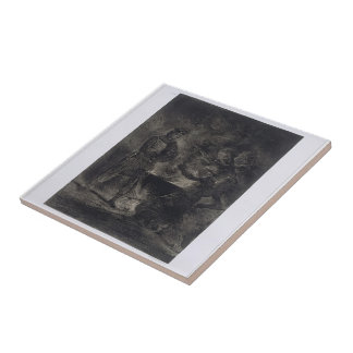 Eugene Delacroix: Macbeth and the Witches Small Square Tile