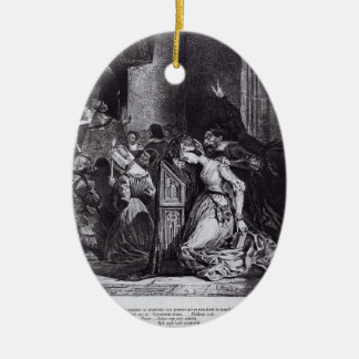 Eugene Delacroix: Marguerite in the Church Christmas Tree Ornament