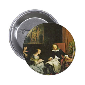 Eugene Delacroix:Milton dictated to his daughters Buttons