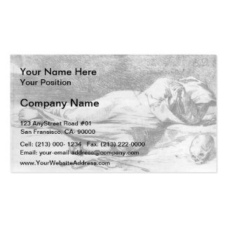 Eugene Delacroix- Monk at Prayer Double-Sided Standard Business Cards (Pack Of 100)