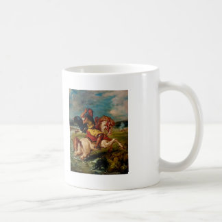 Eugene Delacroix-Moroccan Horseman Crossing a Ford Coffee Mug