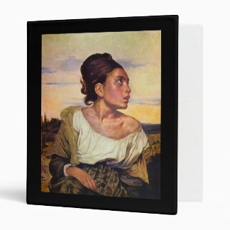 Eugène Delacroix - Orphan in the Cemetery 3 Ring Binder