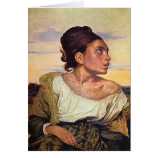 Eugène Delacroix - Orphan in the Cemetery Card