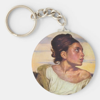Eugène Delacroix - Orphan in the Cemetery Keychain