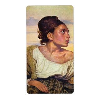 Eugène Delacroix - Orphan in the Cemetery Label