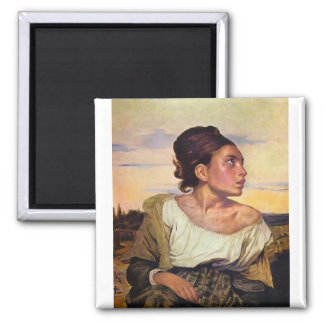 Eugène Delacroix - Orphan in the Cemetery Magnet