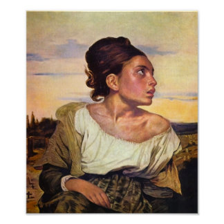 Eugène Delacroix - Orphan in the Cemetery Posters