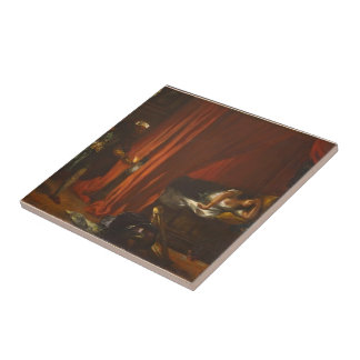 Eugene Delacroix- Othello and Desdemona Tile