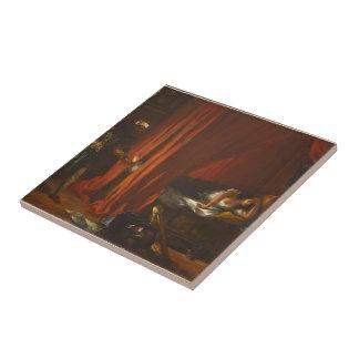 Eugene Delacroix- Othello y Desdemona Azulejo Cuadrado Pequeño