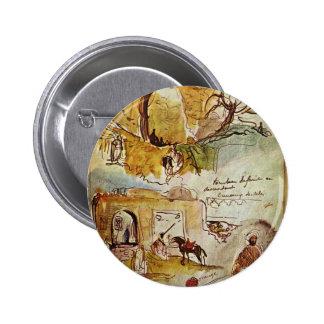 Eugene Delacroix: Pared de la ciudad de Meknes Pins
