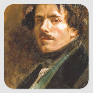 Eugene Delacroix Pegatina Cuadrada