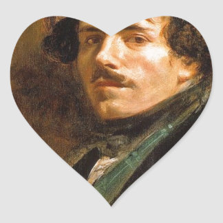 Eugene Delacroix Pegatina En Forma De Corazón