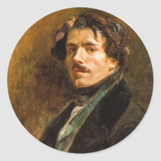Eugene Delacroix Pegatina Redonda