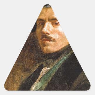 Eugene Delacroix Pegatina Triangular