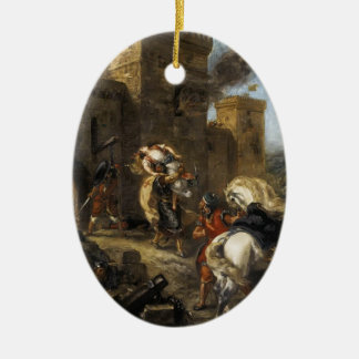 Eugene Delacroix- Rebecca Kidnapped by the Templar Christmas Ornaments