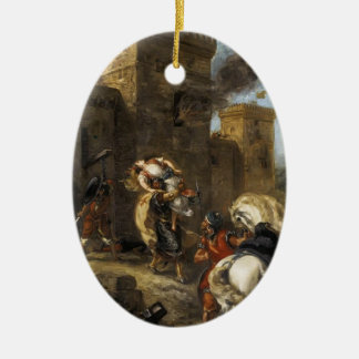 Eugene Delacroix- Rebecca Kidnapped by the Templar Christmas Tree Ornament