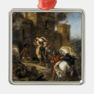 Eugene Delacroix- Rebecca Kidnapped by the Templar Christmas Tree Ornaments
