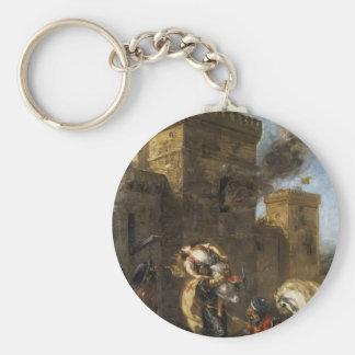 Eugene Delacroix- Rebecca secuestrada por el Templ Llavero Personalizado