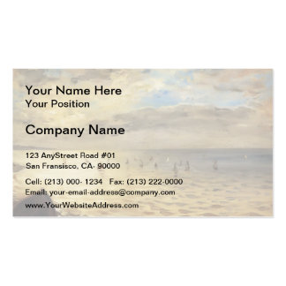 Eugene Delacroix- Sea from the Heights of Dieppe Double-Sided Standard Business Cards (Pack Of 100)