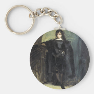 Eugene Delacroix- Self Portrait as Hamlet Keychain